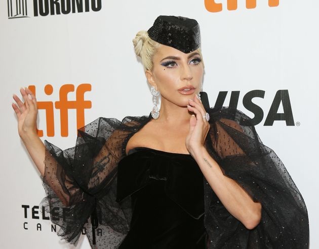 Lady Gaga at the premiere of 'A Star Is Born' in