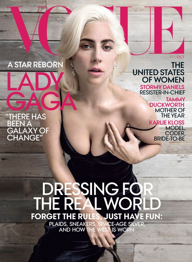 Gaga on the cover of