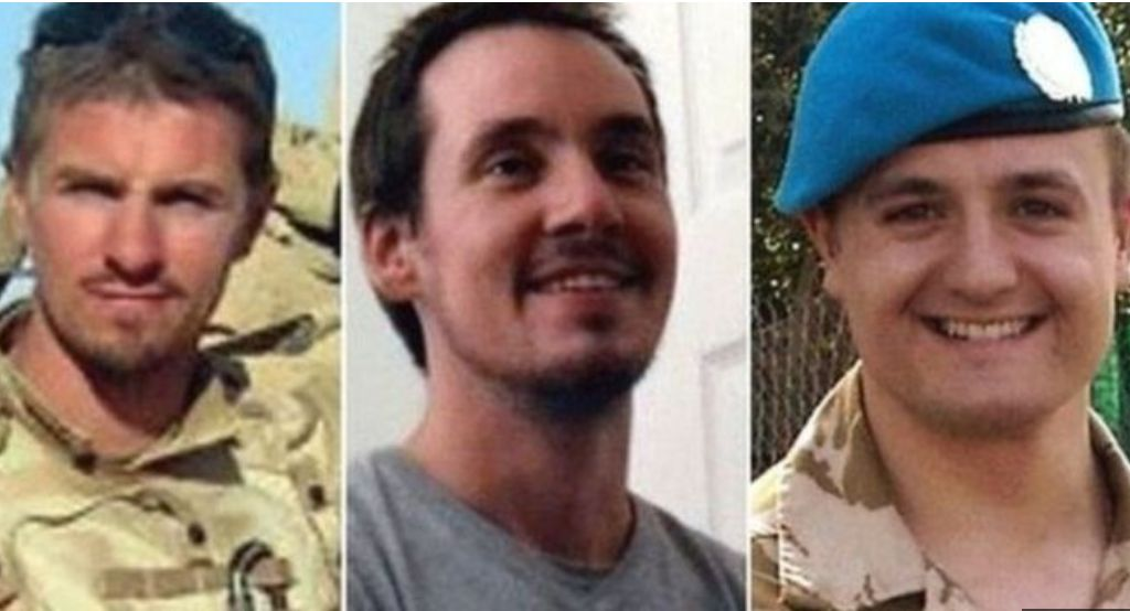 Corporal James Dunsby Lance, Corporal Edward Maher and Lance Corporal Craig Roberts died in July 2013