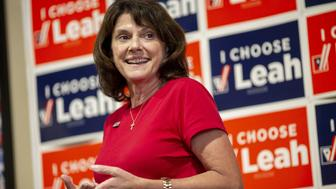Leah Vukmir, a Republican Senate candidate from Wisconsin, speaks during a campaign stop in Elkhorn, Wisconsin, U.S., on Monday, Aug. 13, 2018. The Wisconsin primary election scheduled tomorrow will determine who will be on the ballot against incumbent Democratic Senator Tammy Baldwin. Photographer: Daniel Acker/Bloomberg via Getty Images