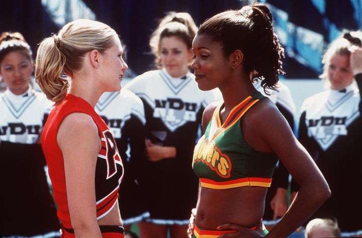 """Kirsten Dunst And Gabrielle Union in """"Bring It On,"""" originally called """"Cheer Fever."""""""