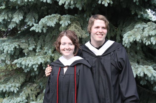 The couple at their college graduation in May