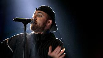 Zambujeira do Mar, 08/18/17 - The 20th edition of the Meo Sudoeste Festival is held at the Herdade da Casa Branca. Concert by Mac Miller. (Sara Matos / Global Images) *** Please Use Credit from Credit Field ***
