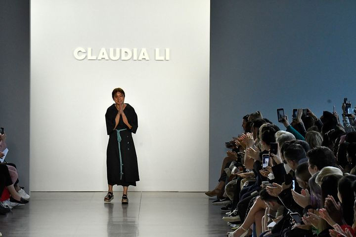 "Designer Claudia Li at her New York Fashion Week show, Sept. 9. ""I feel like the word 'Asian&rsquo"