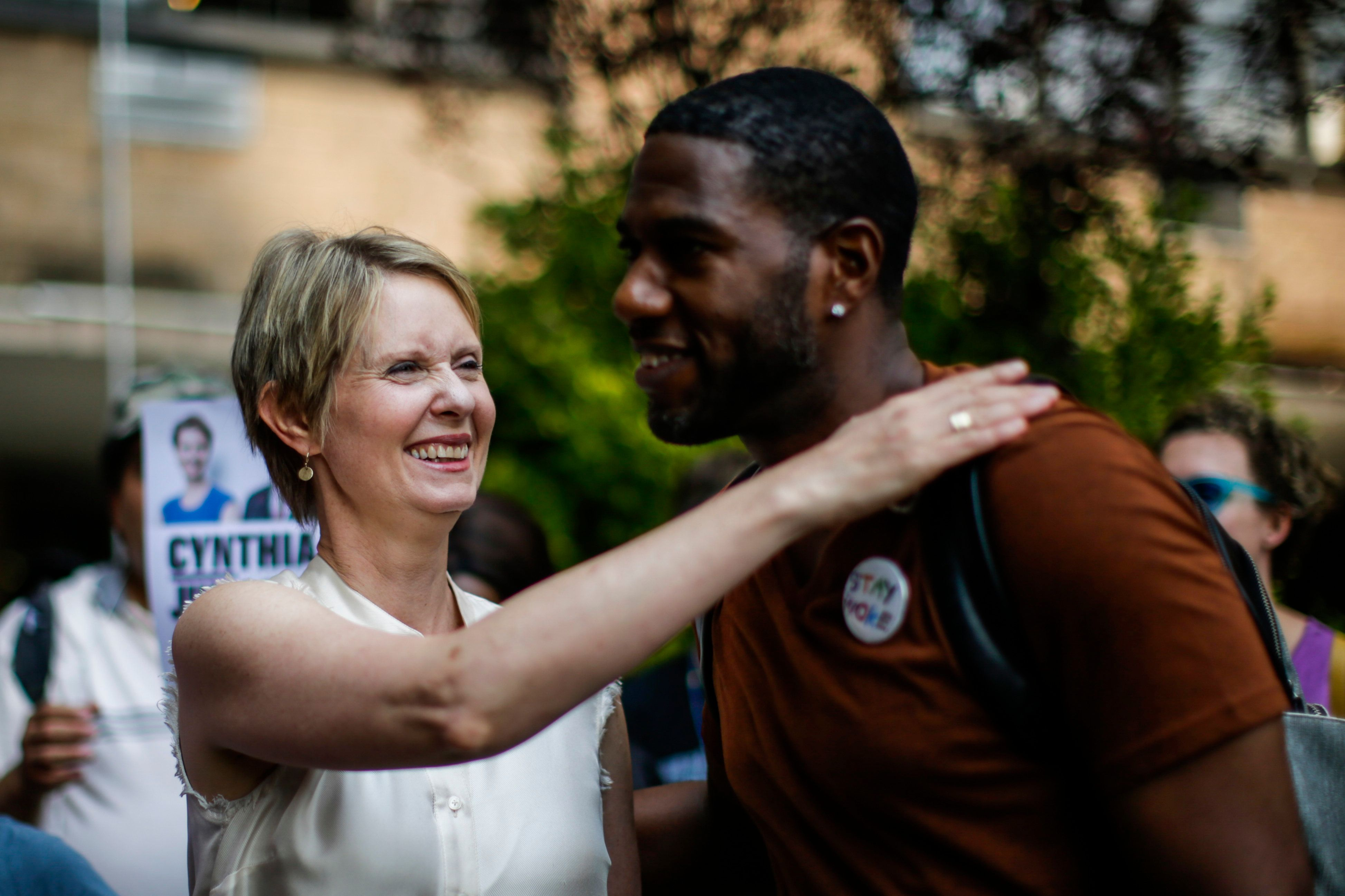 Cynthia Nixon Needs Black Voters. She's Trying. It May Not Be Enough.