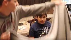 동생을 놀리는 데 매우 효과적인 동생을 '사라지게' 하는 마술