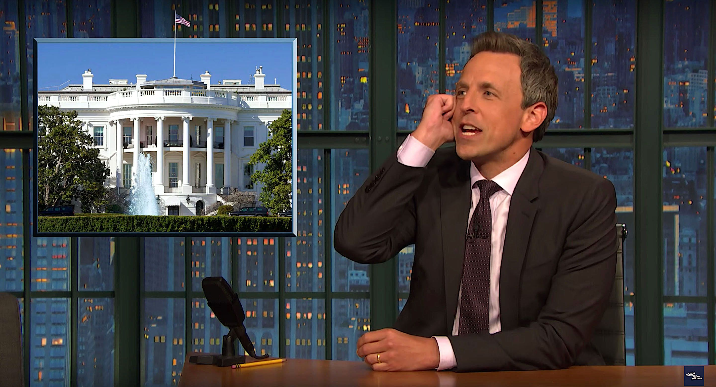 Seth Meyers of Late Night weighs in on the anonymous op-ed and Bob Woodwards new book