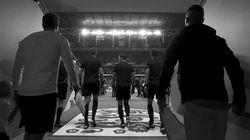 잉글랜드-스위스 축구 경기가 '흑백'으로 중계되는