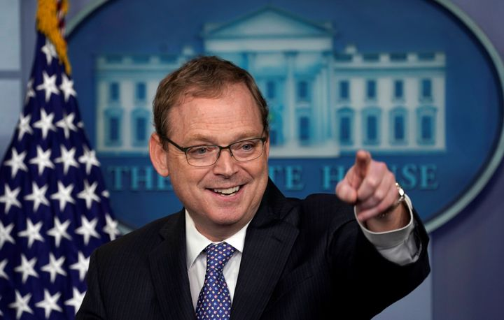 Kevin Hassett, chairman of the White House Council of Economic Advisers, isn't vouching for the president's tweets.