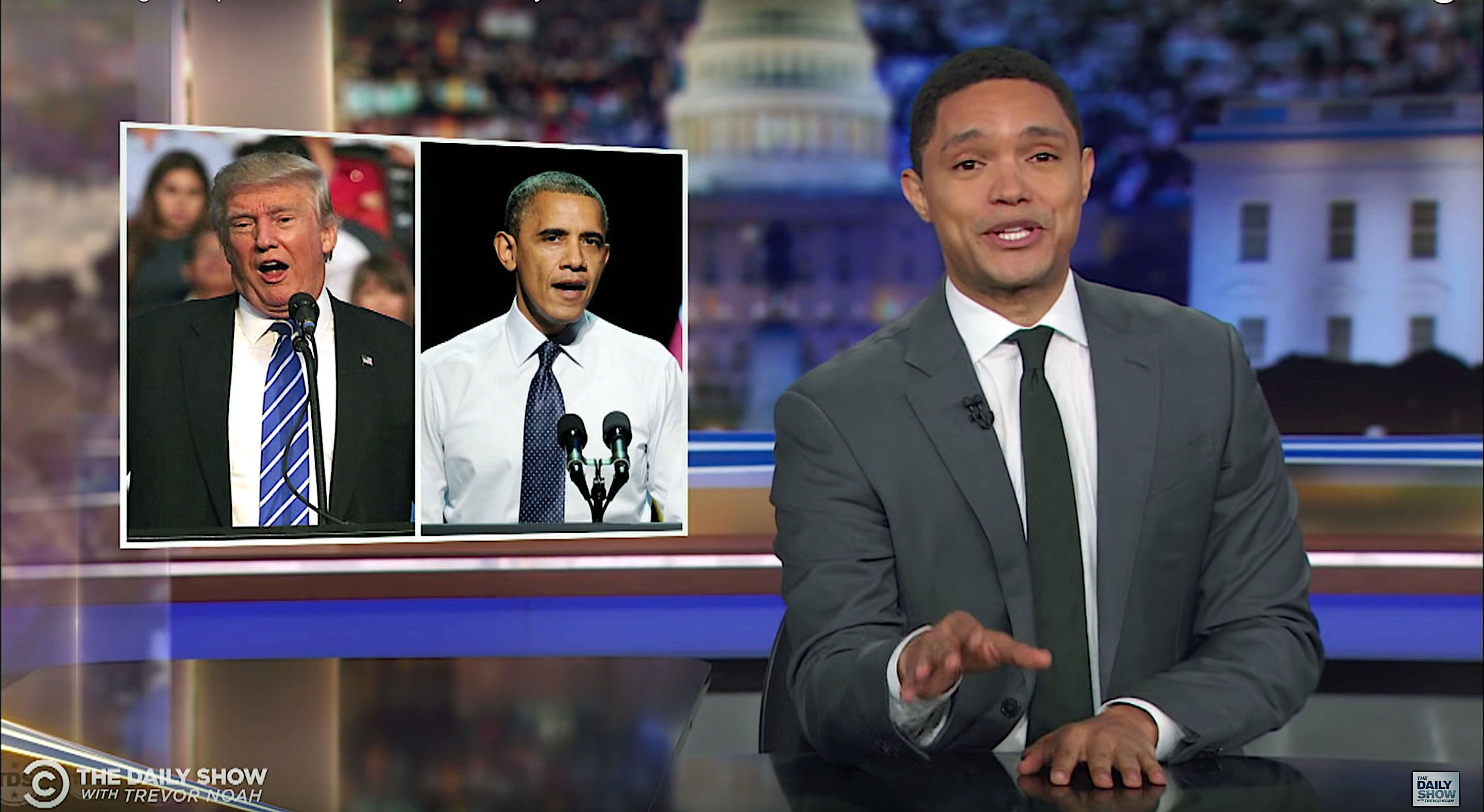 Trevor Noah of The Daily Show muses about who would win if Barack Obama ran against Donald Trump