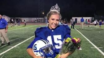 Kaylee Foster was crowned homecoming queen then made the game-winning kick in overtime of the football game