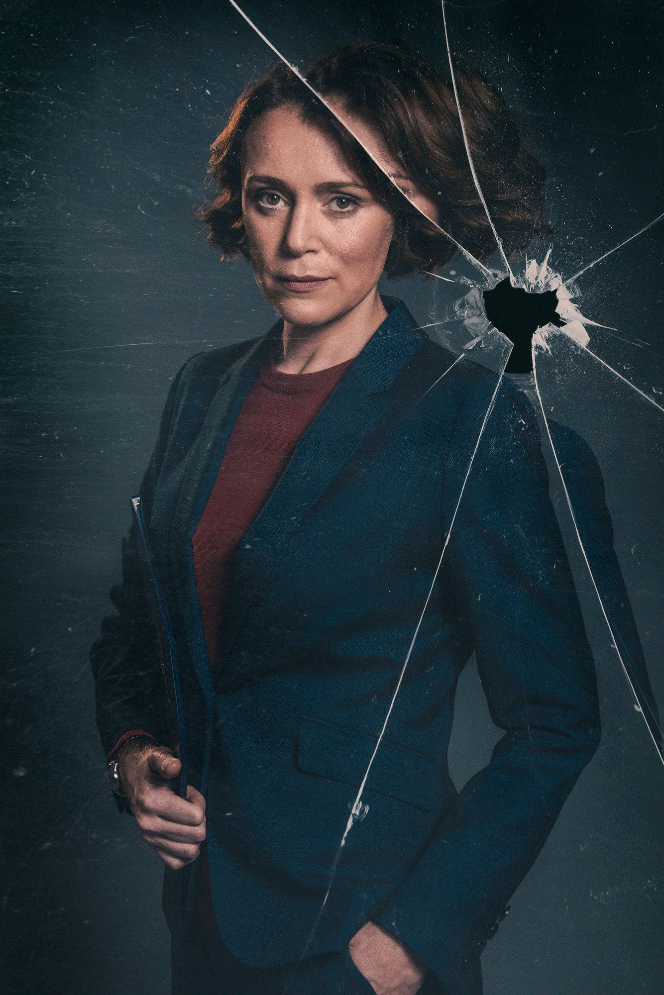 Keeley Hawes as Home Secretary Julia