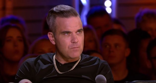 Robbie Williams at the judges'