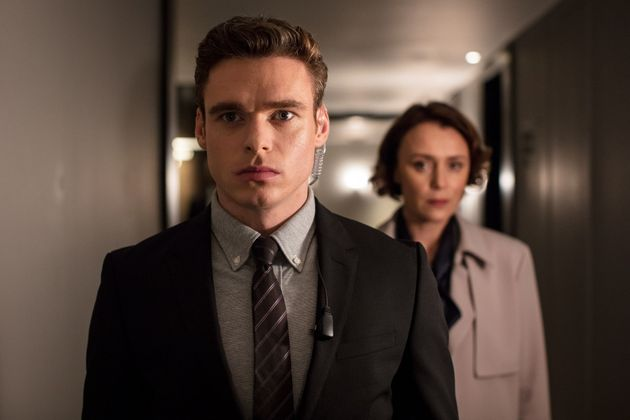 Richard Madden plays the Home Secretary's bodyguard, Sgt David