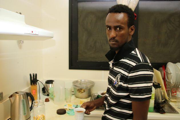 Un réfugié de Somalie, Khadar Hsri, au camp de réfugiés numéro 5 sur...