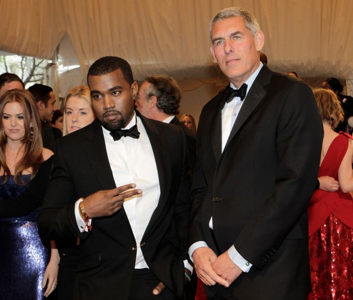 Lyor Cohen arrive and Kanye West at the Metropolitan Museum of Art Costume Institute Benefit in 2011.