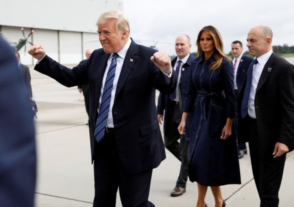 Trump Branded 'Insensitive' After Double Fist Pump Ahead Of 9/11
