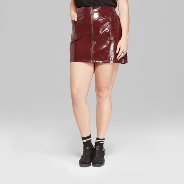 """<strong>Sizes</strong>: 1X to 4X<br>Get it <a href=""""https://www.target.com/p/women-s-plus-size-zip-front-faux-leather-mini-sk"""