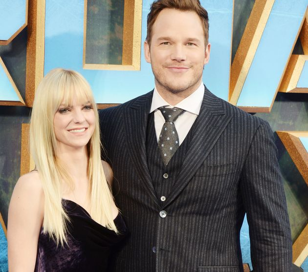Chris Pratt and Anna Faris pictured during their last public appearance as a