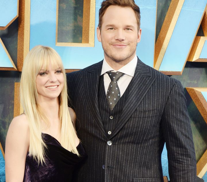Chris Pratt and Anna Faris pictured during their last public appearance as a couple.