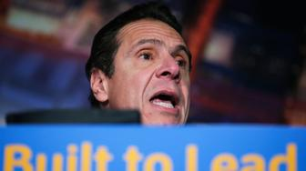 """New York Governor Andrew Cuomo speaks at a press conference to announce major transportation initiatives in the Manhattan borough of New York, January 6, 2016. Cuomo promised the """"largest investment in upstate New York in history, period"""" promising a $22 billion investment in bridges and roads as he aims to reverse years of decline in the rustbelt north of New York City.    REUTERS/Carlo Allegri"""
