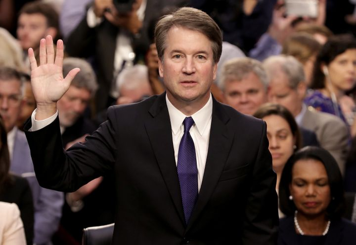 Kavanaugh is sworn in before the Senate judiciary committee during his Supreme Court confirmation hearing on Sept. 4.