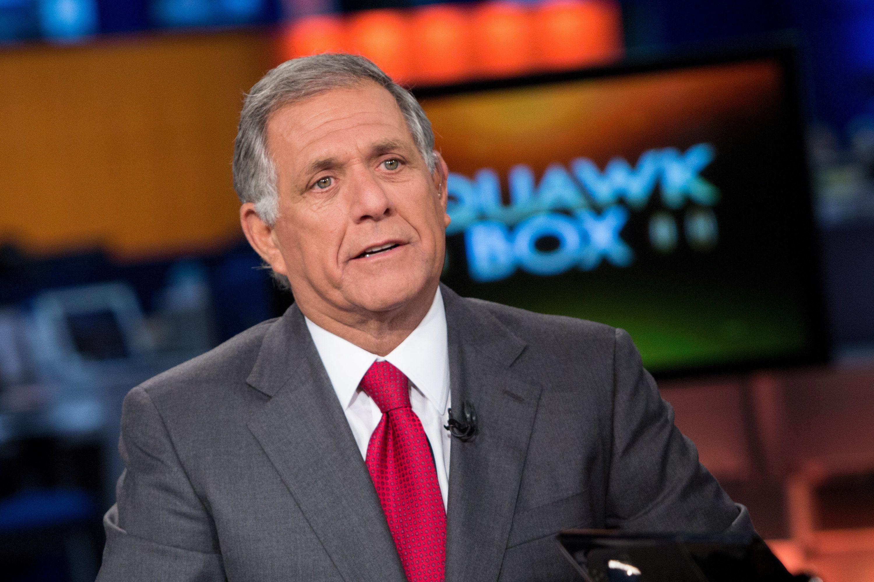 SQUAWK BOX -- Pictured: Les Moonves, President and Chief Executive Officer of CBS Corporation, in an interview on September 4, 2013 -- (Photo by: Adam Jeffery/CNBC/NBCU Photo Bank via Getty Images)
