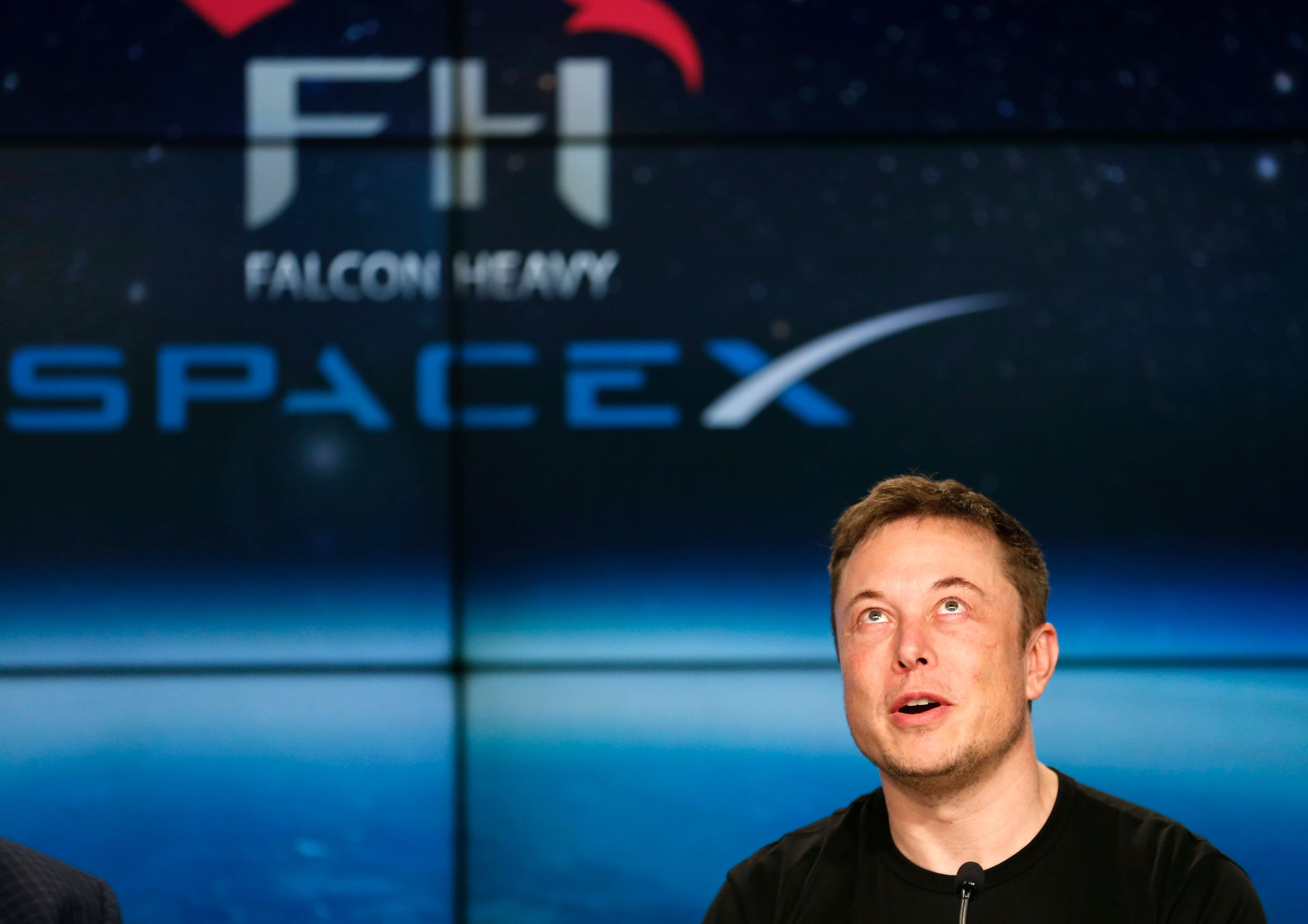 SpaceX founder Elon Musk speaks at a press conference following the first launch of a SpaceX Falcon Heavy rocket at the Kennedy Space Center in Cape Canaveral, Florida, U.S., February 6, 2018. REUTERS/Joe Skipper