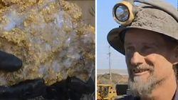 한 호주 광부가 금으로 가득한 노다지를