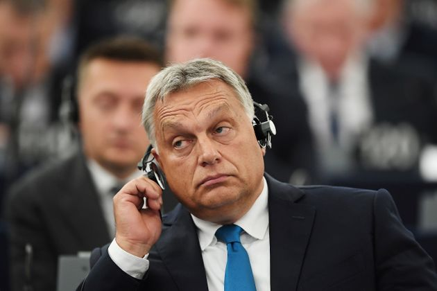 Ungarns Premier Viktor Orbán im EU-Parlament in Strassburg am