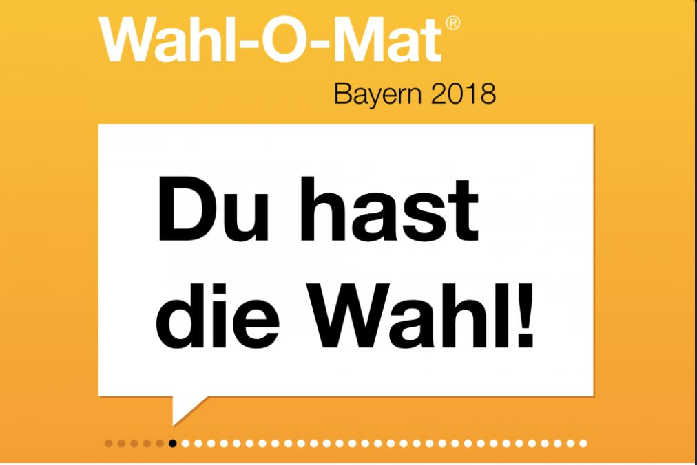 Wahl-O-Mat für die Landtagswahl in Bayern 2018 – was ihr wissen