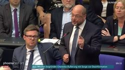 AfD-Chef Gauland pöbelt im Bundestag – SPD-Mann Schulz hält flammende Gegenrede