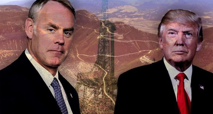 Secretary of the Interior Ryan Zinke and Donald Trump.