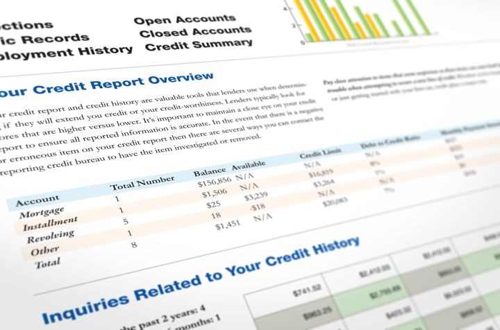 A credit report will list all your debts, account balances and available credit, among other information.