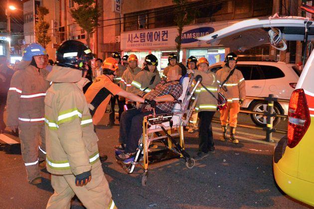 경북 포항에서 가스 폭발로 추정되는 사고가