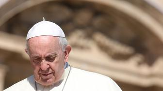VATICAN CITY, VATICAN - SEPTEMBER 12:  Pope Francis arrives in St, Peter's square for his weekly audience on September 12, 2018 in Vatican City, Vatican. The Director of the Holy See Press Office, Greg Burke, has confirmed that Pope Francis will meet on Thursday with the leaders of the episcopal conference of the United States.  (Photo by Franco Origlia/Getty Images)