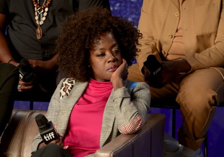 """Actress Viola Davis at a press conference during the 2018 Toronto International Film Festival on Sept. 9. 2018. In an interview with The New York Times, she said of """"The Help,""""""""I just felt that at the end of the day that it wasn't the voices of the maids that were heard."""""""