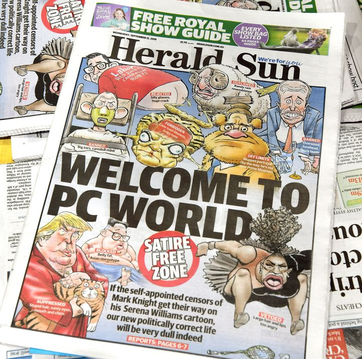The Herald Sun responded to the uproar as Australians often respond to charges and evidence of racism: with denial and disdai