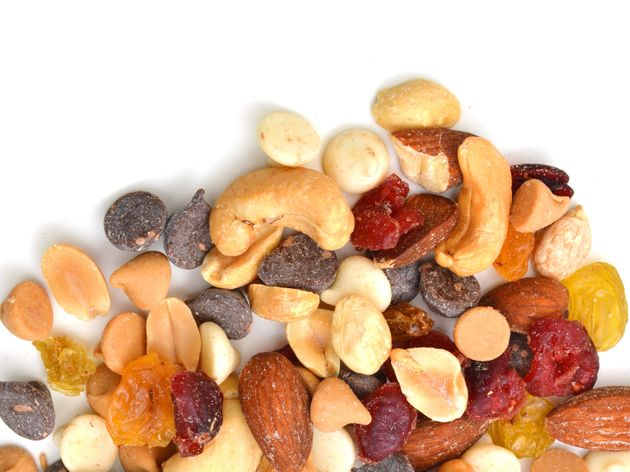 Make your own trail mix with a combination of dried fruit and