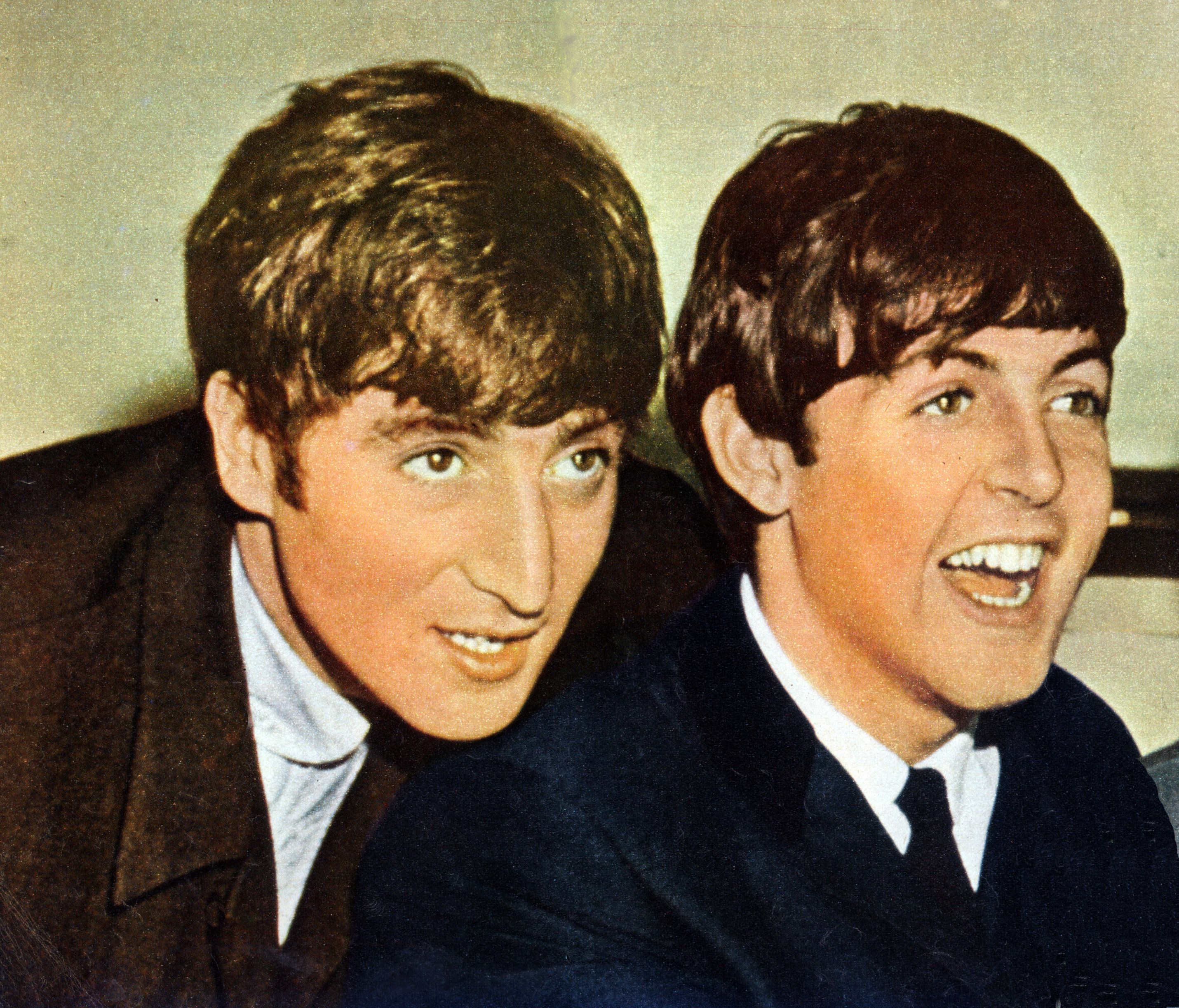 UNSPECIFIED - JANUARY 01: (AUSTRALIA OUT) Photo of  John Lennon (1940-1980) and Paul McCartney (right) from The Beatles posed in 1963. (Photo by GAB Archive/Redferns)