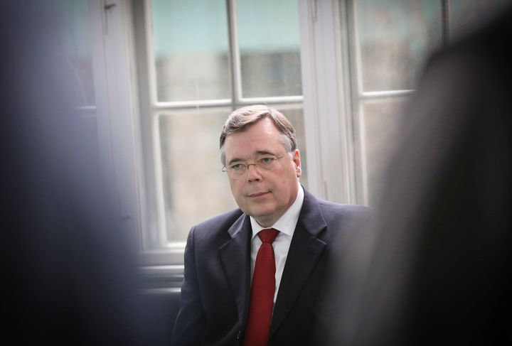 Geir Haarde, Iceland's former prime minister, awaits a verdict in a Reykjavik court in 2012 for his role in the island's fina