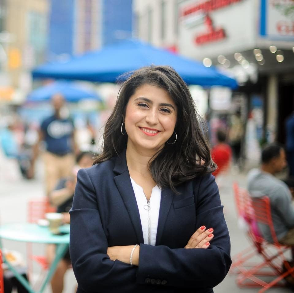 Jessica Ramos a state Senate candidate in New Yorks 13th District is one of eight progressives challenging renegade Democrats who aligned with Republicans