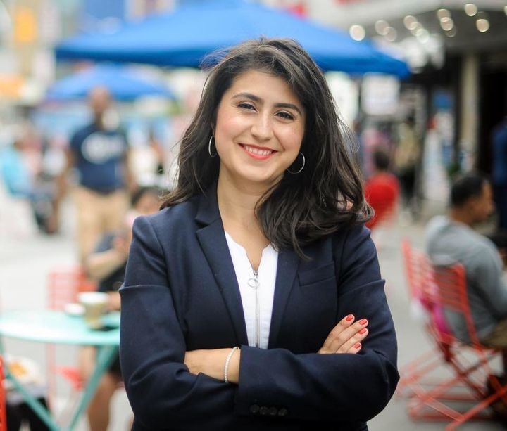 Jessica Ramos, a state Senate candidate in New York's 13th District, is one of eight progressives challenging renegade Democr