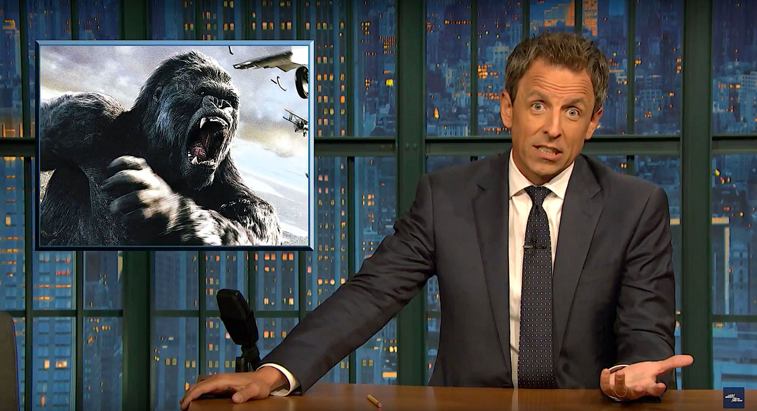Seth Meyers of Late Night is doubtful of President Donald Trumps ability to handle Hurricane Florence