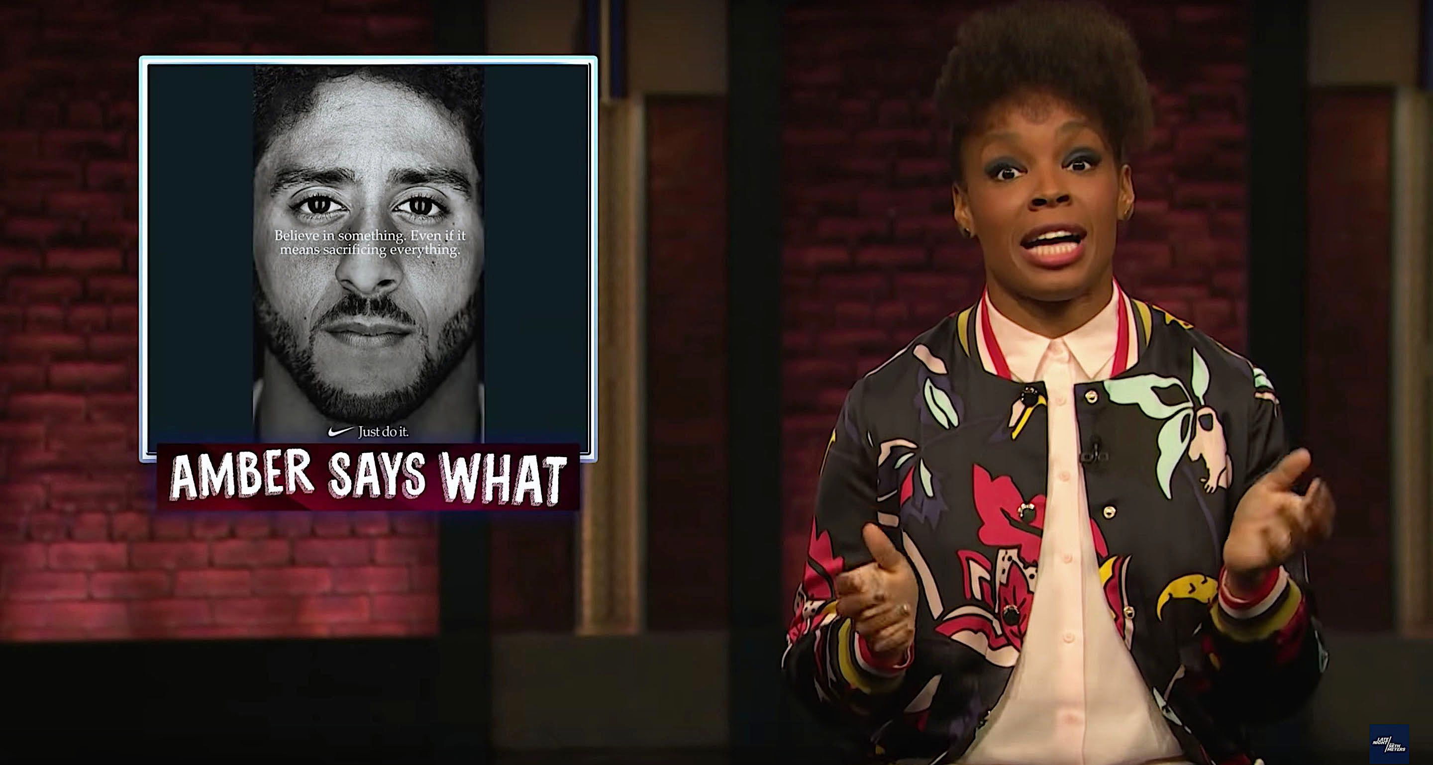 Late Night writer Amber Ruffin says its time for racists to take a knee