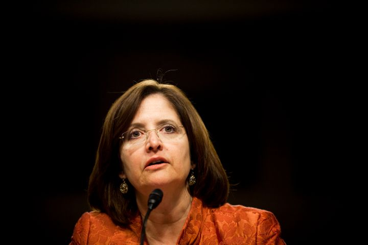 Kathleen Corbet, former president of Standard & Poor's, testifies at a Senate subcommittee hearing in Washington, D.C., o