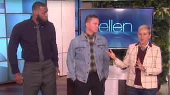 LeBron James and Channing Tatum did some dares for charity on Ellen