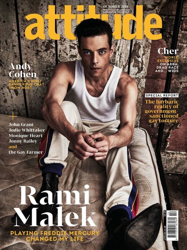 Rami on the cover of Attitude