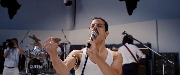 Rami as Freddie Mercury in the
