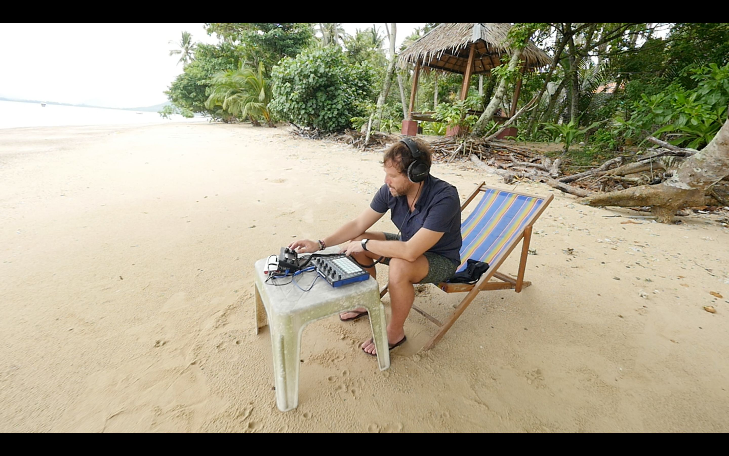 Sebastian Seifert at inventors camp this summer on Koh Lon, off the coast of Thailand.